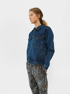 Denim Garage Jacket and Tree Bark Sweatpant