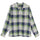 Rayon Plaid LS Shirt - Blue