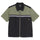 Color Block Zip Work Shirt - Olive