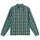 Classic Zip Up Plaid Ls Shirt - Green