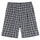 Plaid Linen Bryan Short - Navy