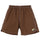 Contrast Stitch Water Short - Brown