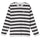 Printed Stripe L/Sl Crew - BLACK