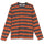 Printed Stripe L/Sl Crew - ORANGE