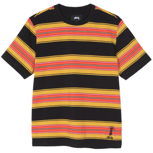 Stussy Men Multi Stripe Shirt black