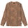 Flower LS Crew - Brown