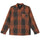 Insulated Coach Jacket - Brown Plaid