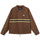 Stripe Zip Jacket - Brown