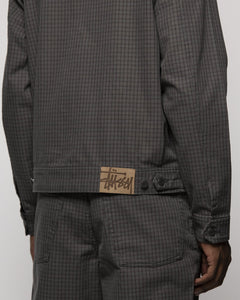 Details about  /STUSSY CHECK BIG OL JEANS 116455 OLIVE 90s loose fit baggy old school trousers b