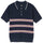 Montego Stripe Polo - Navy