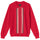Full Zip LS Knit Polo Sweater - Red