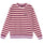 Striped Polar Fleece Crew - Berry