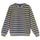 Striped Polar Fleece Crew - Olive