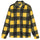 Polar Fleece Zip Up Shirt - Yellow Check