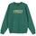 3D Collegiate Embroidered Crew - Dark Green