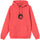 8 Ball Man Embroidered Hoodie - Pale Red