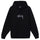 Stock Logo Embroidered Hoodie - Black
