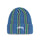 VERTICAL STRIPE CUFF BEANIE - BLUE
