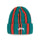 VERTICAL STRIPE CUFF BEANIE - TEAL