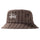 Big Logo Striped Bucket Hat - Brown