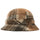 Sherpa Fleece Bell Bucket Hat - Brown Plaid