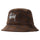 Big Logo Plaid Bucket Hat - Brown