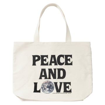 스투시 토트백 Stussy Peace And Love Canvas Tote Bag,Natural
