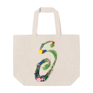 Carry-all Floral Explosion Shopping Bag Reversible Bag Tote Bag Beach Bag Grocery Bag