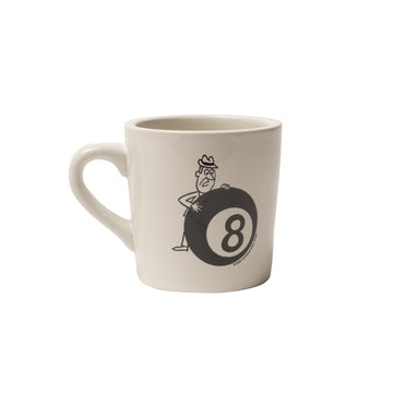 스투시 세라믹 머그 Stussy Behind The 8 Ball Ceramic Mug,White