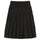 Mix Plaid Pleated Skirt - Black