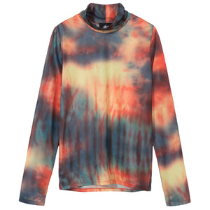 Monty Tie Dye Mock Neck by Stussy, available on stussy.com for $65 Bella Hadid Top SIMILAR PRODUCT
