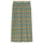 Printed Plaid Mesh Tube Skirt - Yellow
