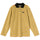 Rosemary Velour Stripe Ls Polo - Yellow