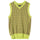 Melange Checker Sweater Vest - Lime