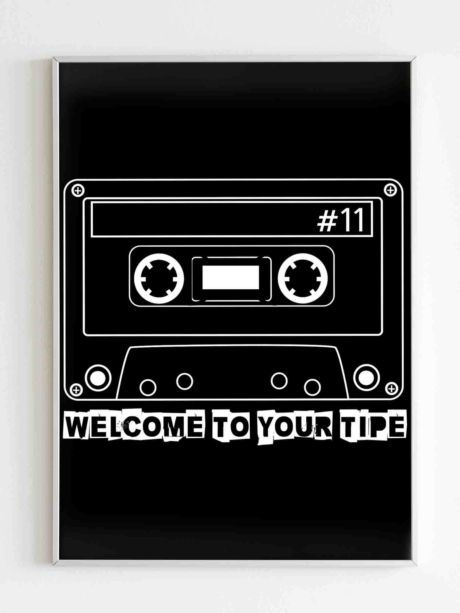 13 Reasons Why Welcome To Your Tape Cassette Tape Poster