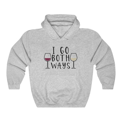 I Go Both Ways White And Red Wine Unisex Hoodie