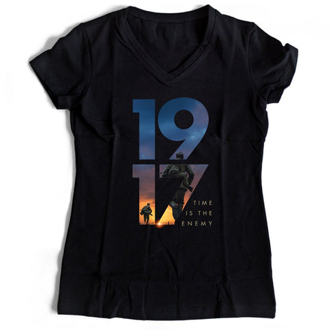 1917 Time Is The Enemy Women's V-Neck Tee T-Shirt