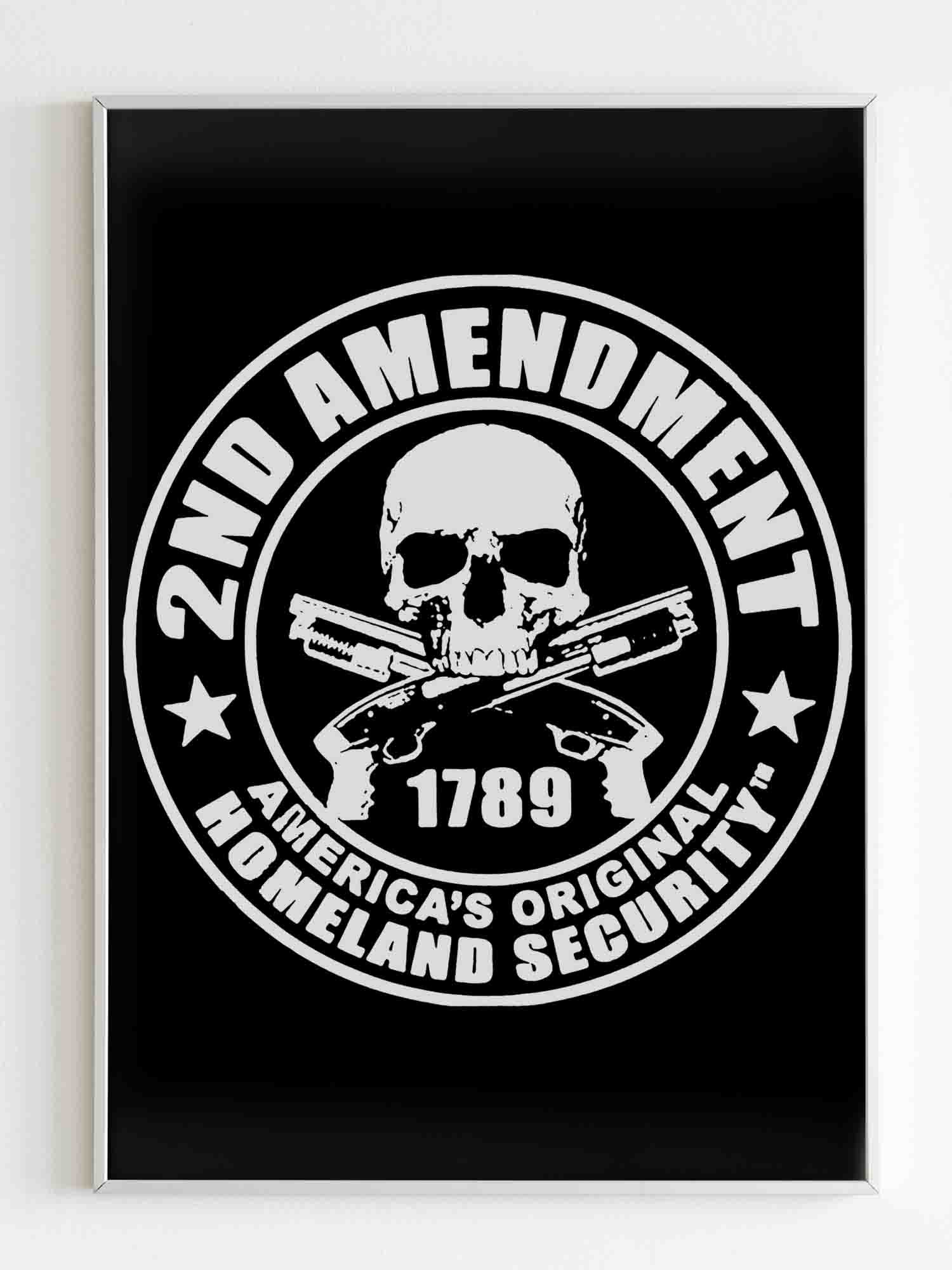 2nd Amendment America's Original Homeland Security Poster