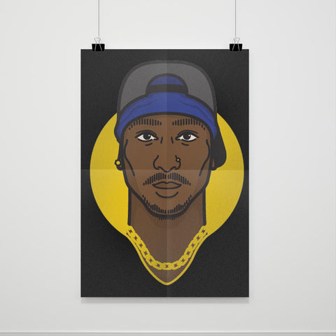 2pac Head Poster