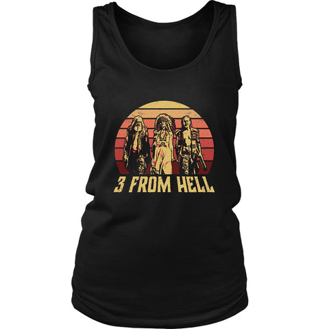 3 From Hell Friends Retro Vintage Women's Tank Top
