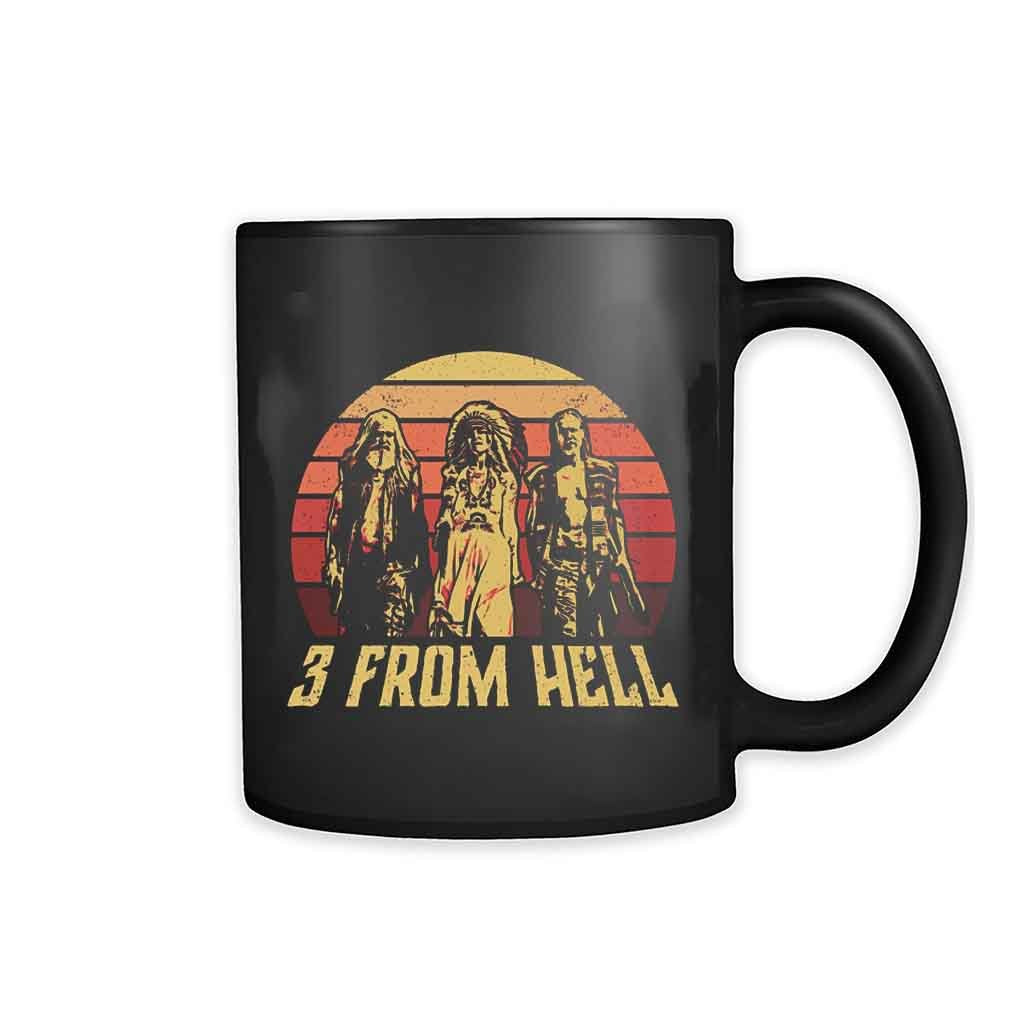 3 From Hell Friends Retro Vintage 11oz Mug