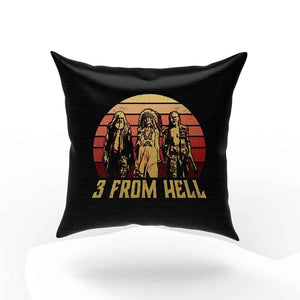 3 From Hell Friends Retro Vintage Pillow Case Cover
