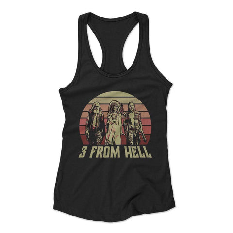 3 From Hell Friends Retro Vintage Woman's Racerback Tank
