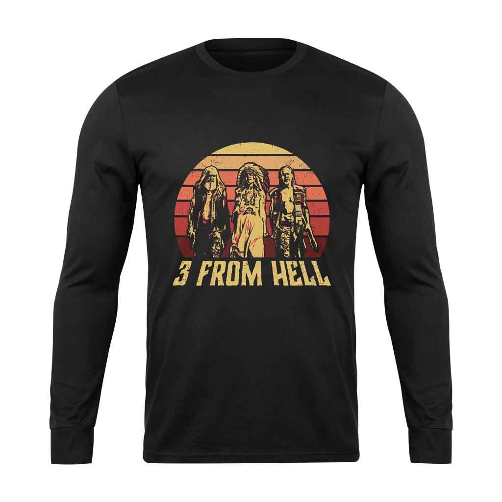 3 From Hell Friends Retro Vintage Long Sleeve T-Shirt