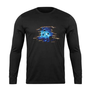 3d Cosmic Galaxy Planets Long Sleeve T-Shirt