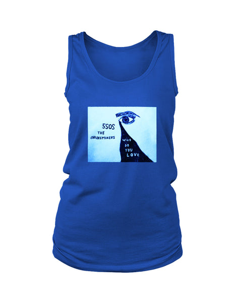 5sos Ft The Chainsmokers Who Do You Love Poster Women's Tank Top