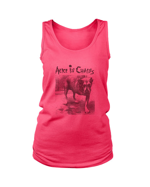 Alice In Chains Dog Grunge Seattle Pearl Jam Soundgarden Hole Women's Tank Top