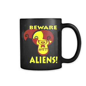 Alien Ufo Hunter I Want To Believe X Files Beware Aliens 11oz Mug