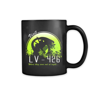 Alien Where They Come Out At Night 11oz Mug