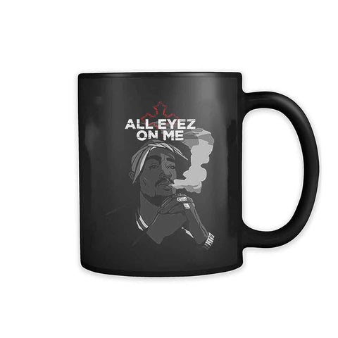 All Eyez On Me 2pac Tupac Shakur Makaveli Rap Eyes 11oz Mug